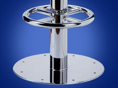 Sgabello da bar per nave per yacht base rotonda pedestal