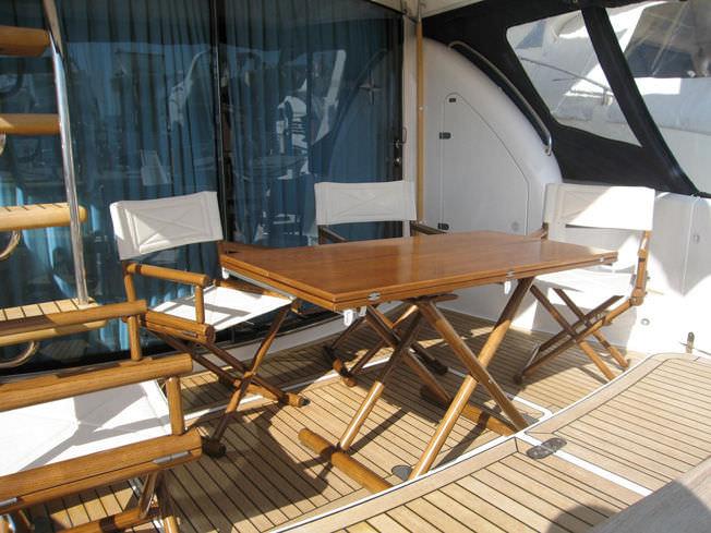 Sgabello per barca in legno round dst e valdenassi