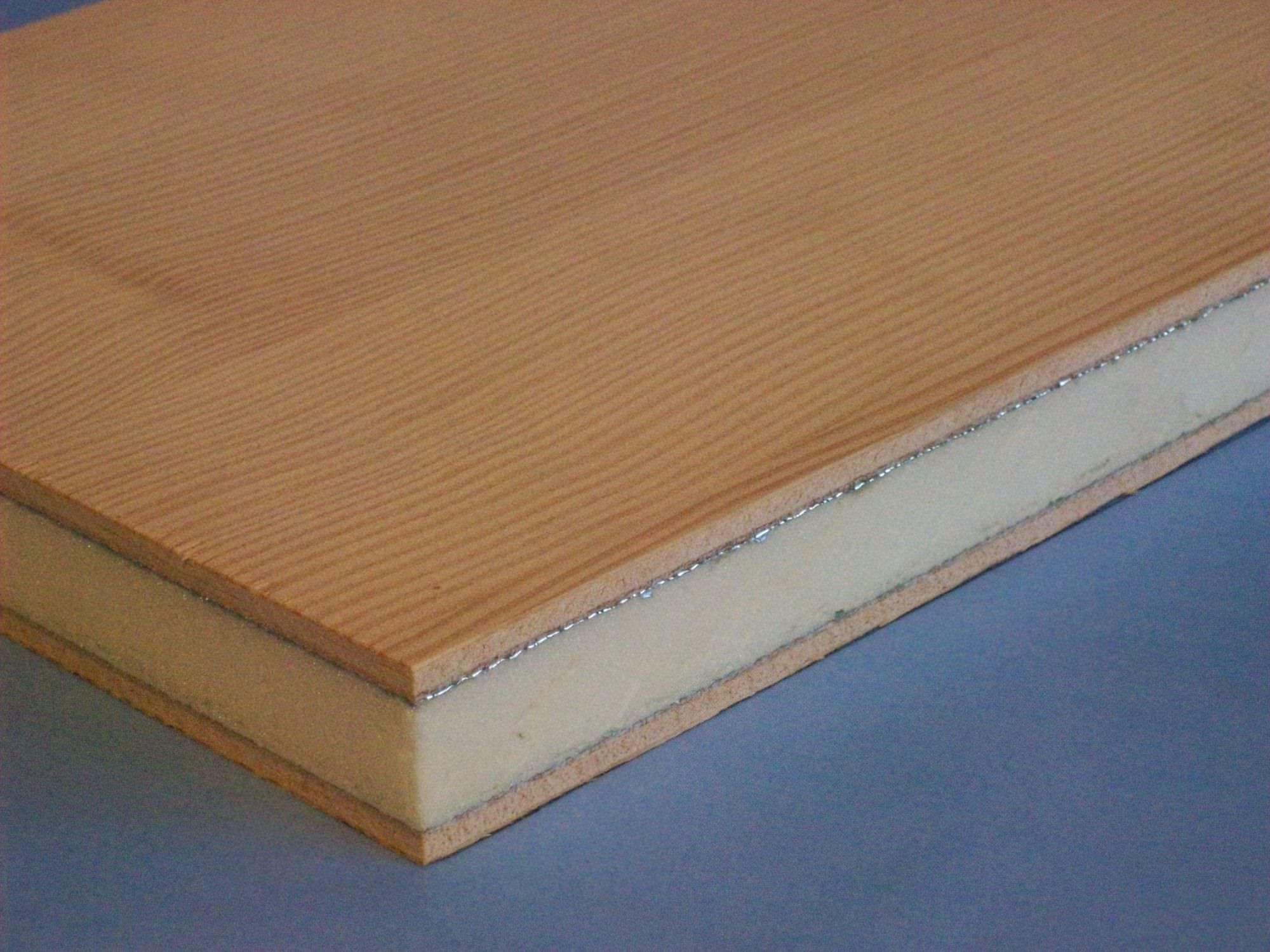 Pannello sandwich per isolamento termico / in schiuma / in legno ...
