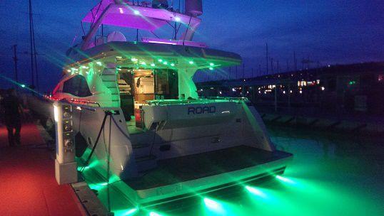 Illuminazione subacquea per barca per yacht per pontile per