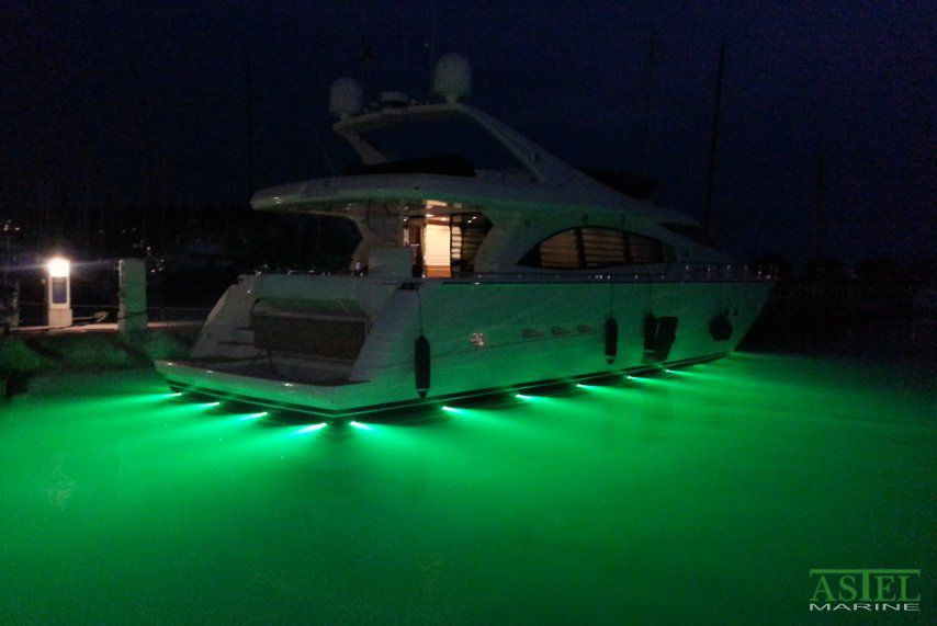 Illuminazione subacquea per yacht led passascafo multicolore