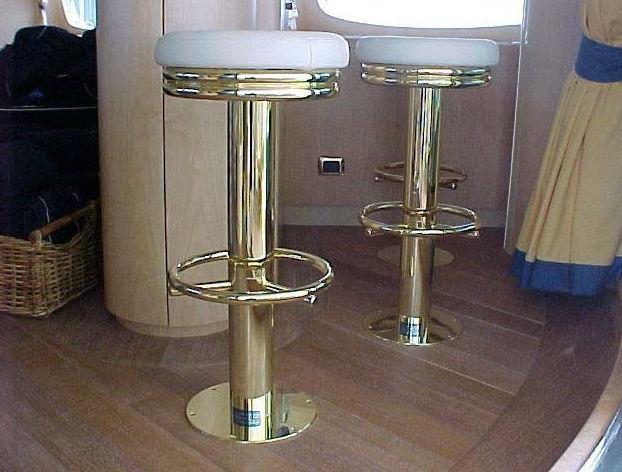 Sgabello da bar per yacht in acciaio inossidabile lucido base