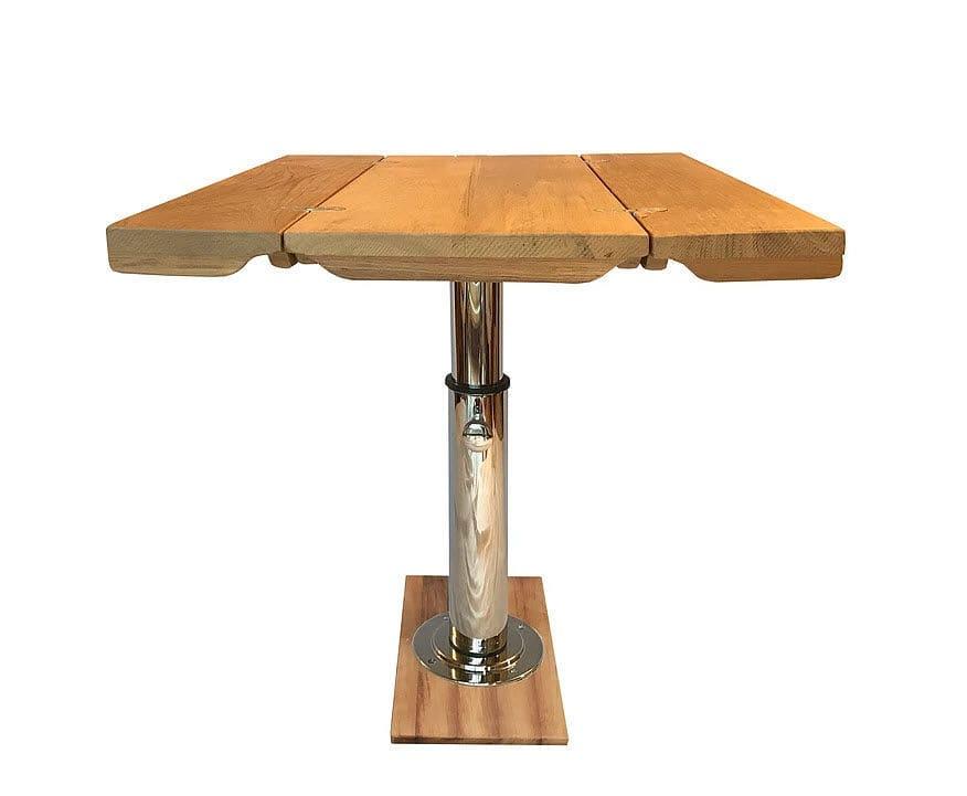 Tavolo per barca pieghevole regolabile in teak ivy t mia