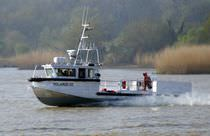 Barca di ricerca oceanografica entrobordo a idrogetto