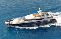 Super-yacht da crociera / con cabina di pilotaggio / in acciaio / con scafo dislocante