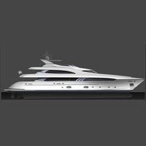 Mega-yacht da crociera / raised pilothouse