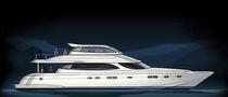 Motor-yacht catamarano / da crociera / con fly chiuso / in composito