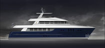Motor-yacht per spedizione / explorer / raised pilothouse / con scafo dislocante