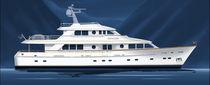 Motor-yacht raised pilothouse / con scafo dislocante
