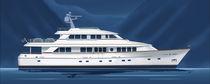 Super-yacht di lusso tradizionale / raised pilothouse / con scafo dislocante