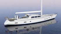 Sailing-superyacht di lusso da crociera / con deck saloon / a chiglia retrattile / sloop