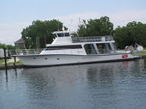 Motor-yacht da pesca / raised pilothouse / dislocante / con 7 cuccette
