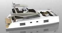 Motor-yacht catamarano / da crociera d'altura / flybridge