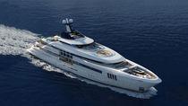 Mega-yacht da crociera / con cabina di pilotaggio / in acciaio / con piscina