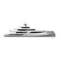 Mega-yacht da crociera / raised pilothouse / in alluminio / con scafo semiplanante