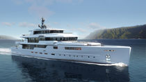 Mega-yacht da crociera / raised pilothouse / in acciaio