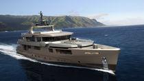 Super-yacht da crociera / con fly / in alluminio / con scafo semiplanante