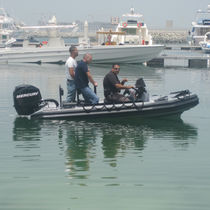 Barca militare fuoribordo / gommone semirigido / in alluminio