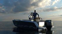 Barca open fuoribordo / in alluminio