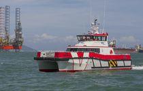 Barca di servizio di parchi eolici offshore