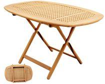 Tavolo per pozzetto regolabile / pieghevole / in teak