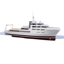 Mega-yacht da crociera / explorer / raised pilothouse / in acciaio