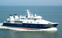 Mega-yacht offshore / explorer / raised pilothouse