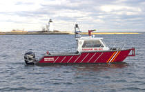 Barca antincendio fuoribordo / in alluminio