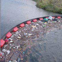 Barriera antinquinamento / gonfiabile / galleggiante / per fiume