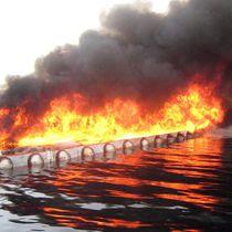 Barriera antinquinamento / galleggiante / per acque calme / ignifuga