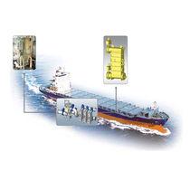 Sistema di trattamento di acqua di ballast / per nave / con filtro / con sterilizzatore UV