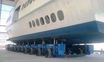 Rimorchio di movimentazione pesante / per cantiere navale / modulare / semovente