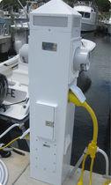 Colonnina di distribuzione elettrica / per pontile / con contatore