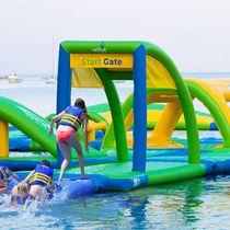 Gioco acquatico con piattaforma / gonfiabile