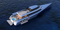 Motor-yacht trimarano a motore / da crociera / hard-top / raised pilothouse