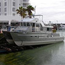 Barca per studi idrografici catamarano / entrobordo / in alluminio