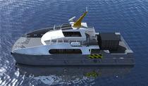 Barca di servizio di parchi eolici offshore catamarano / in alluminio