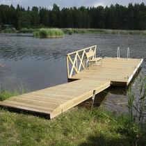 Pontile galleggiante / di ormeggio / per marina / in legno