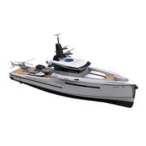 Motor-yacht da crociera / hard-top / con scafo dislocante
