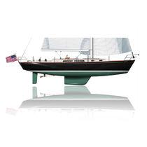 Sailing-yacht da crociera / tradizionale / su misura