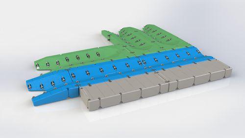 pontile galleggiante / modulare / per ormeggio a secco di jet-ski / per marina