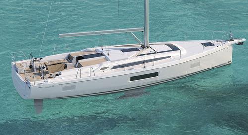 sailing-yacht da crociera / con poppa aperta / con bompresso / con doppio timone a ruota