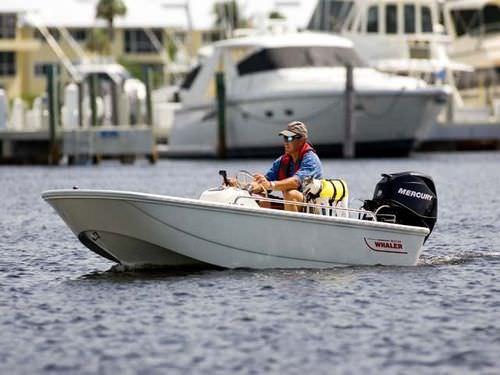 barca open fuoribordo / con console centrale / da pesca sportiva