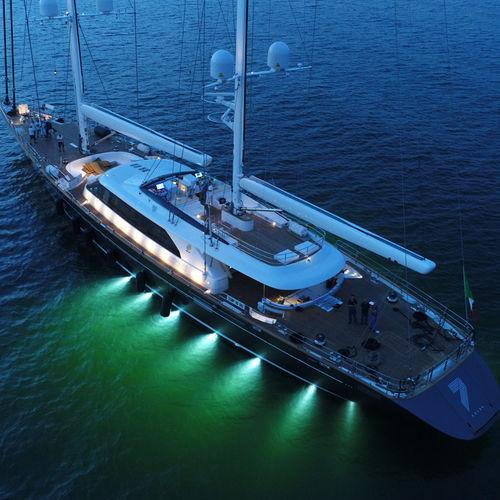 sailing-superyacht di lusso da crociera / con cabina di pilotaggio / in alluminio / ketch