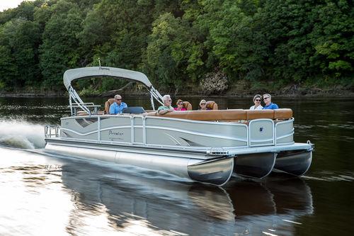 pontoon boat fuoribordo / tri-tube / con doppio ponte a terrazza / max. 24 persone