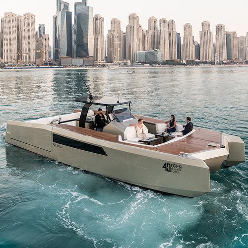cabinato catamarano / fuoribordo / quadrimotore / hard-top