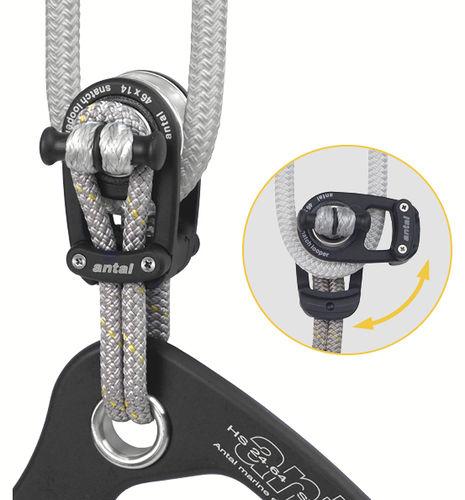 Bozzello apribile / singolo / con attacco tessile / cima max. 14 mm LS046 Antal