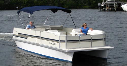 pontoon boat entrobordo / elettrico / da pesca sportiva