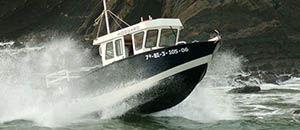 barca open fuoribordo / diesel / con cockpit chiuso / da pesca sportiva