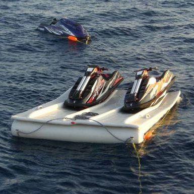 pontile galleggiante / per ormeggio a secco di jet-ski / per marina / in plastica
